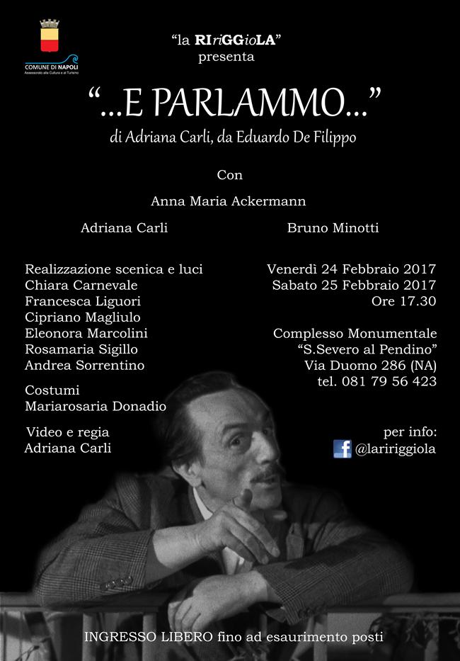 """San Severo al Pendino - Spettacolo teatrale: """"...E parlammo..."""""""