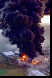 esplosione di un'industria