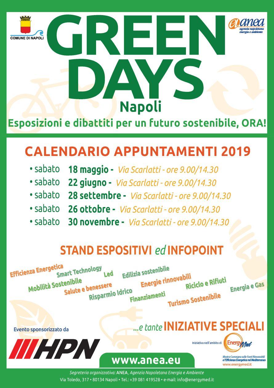 Calendario appuntamenti 2019