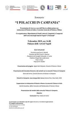 """Seminario """"I Polacchi in Campania"""""""
