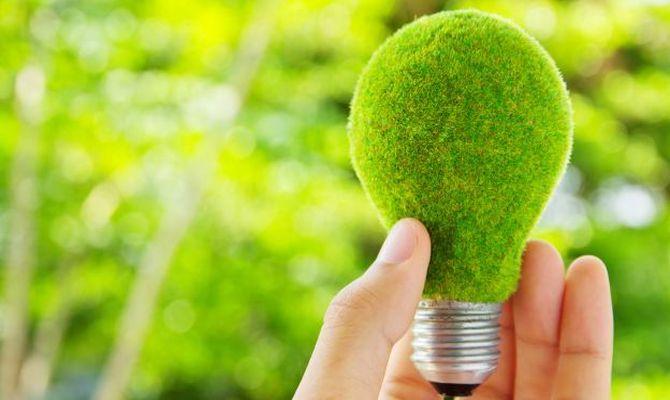 Una lampadina verde