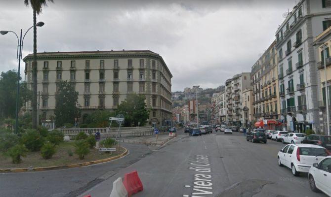 Un'immagine della Riviera di Chiaia da Google Maps