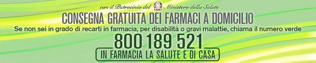 Consegna gratuita farmaci a domicilio 800 189 521