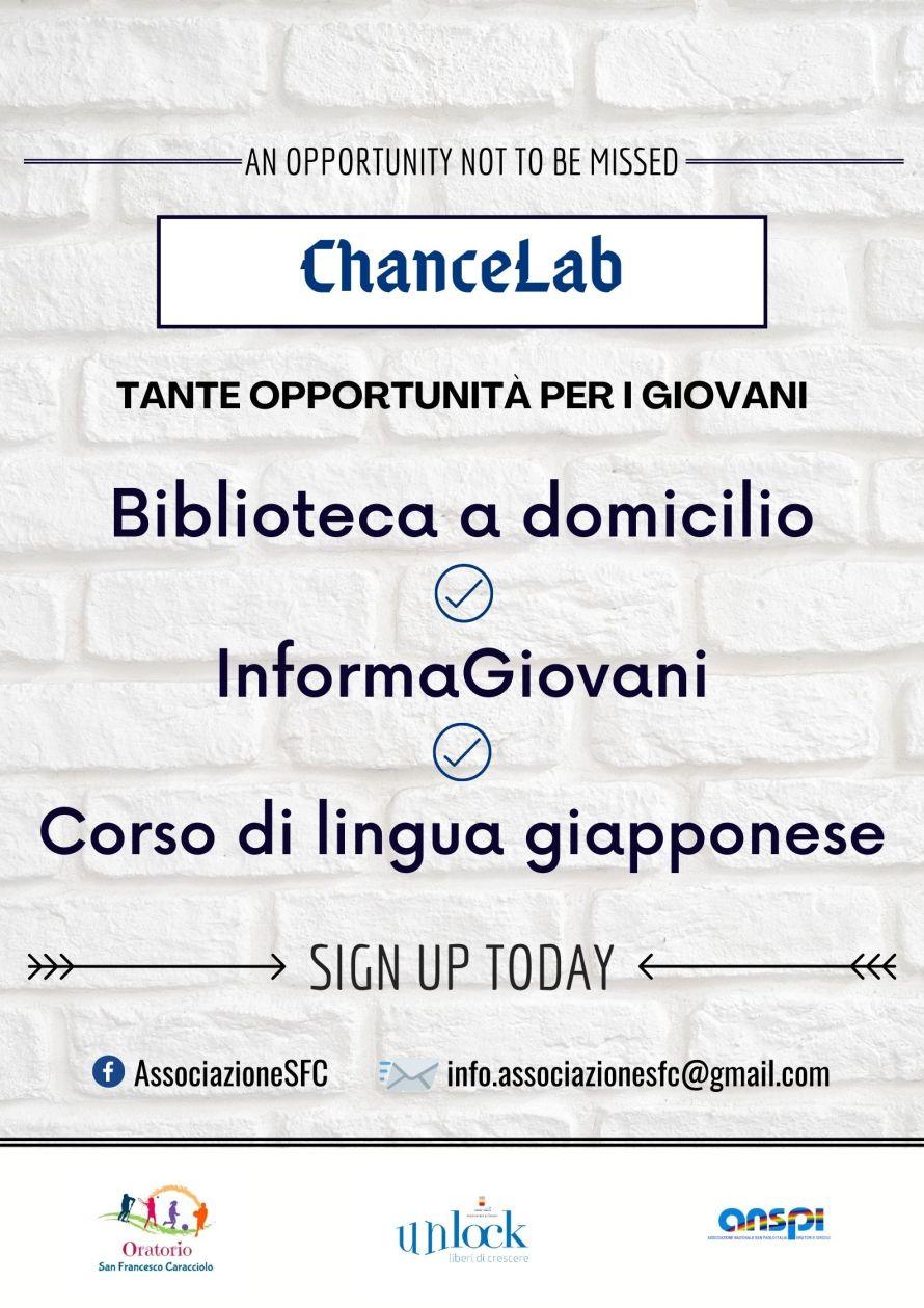 ChanceLab, tante opportunità per i giovani