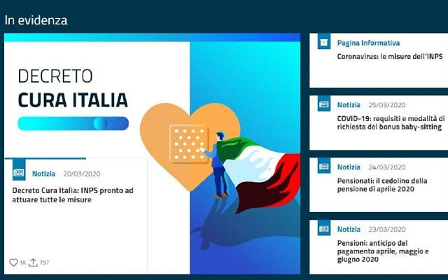 immagine inps cura italia