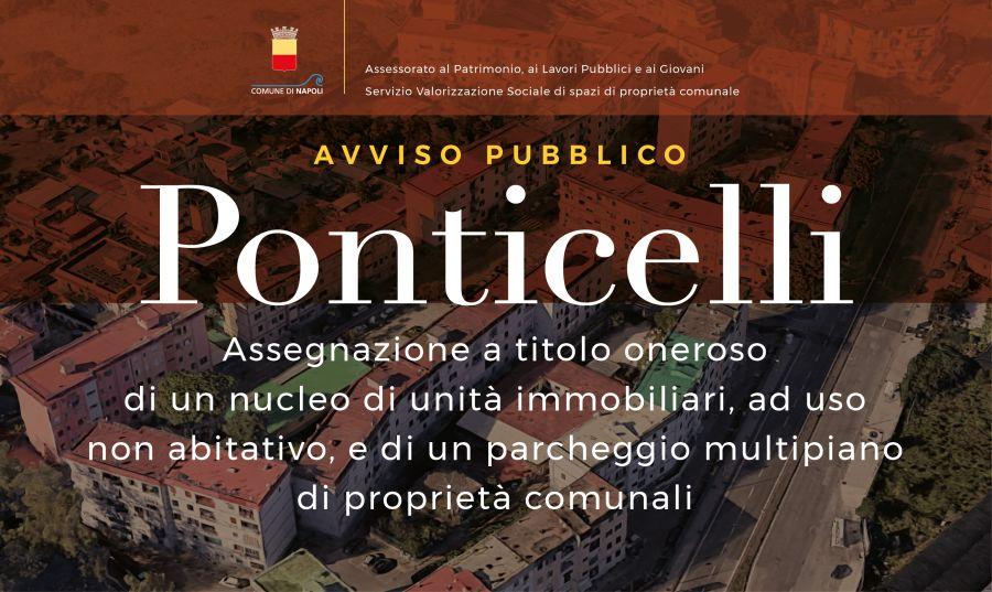 Avviso pubblico per l'assegnazione, a titolo oneroso, di un nucleo di unità immobiliari, ad uso non abitativo, di proprietà del Comune di Napoli e di un parcheggio multipiano, entrambi ubicati nel quartiere di Ponticelli – Municipalità 6