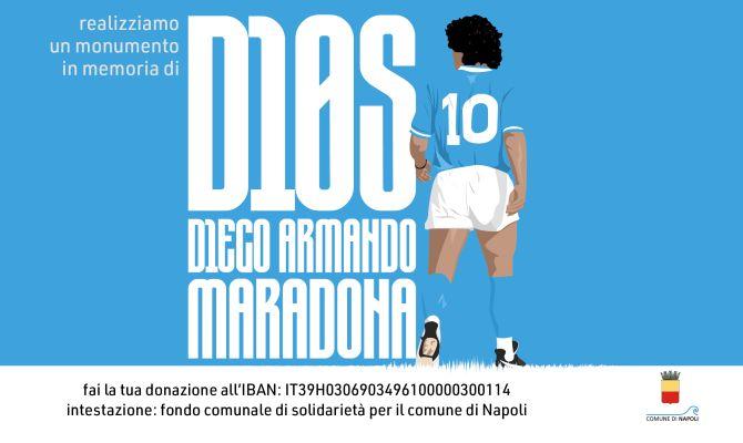 Crowdfunding per la realizzazione di un'opera d'arte in memoria di Diego Armando Maradona