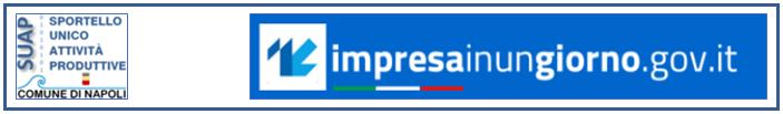Logo del Servizio SUAP e del portale delle Camere di Commercio Impresainungiorno.gov.it