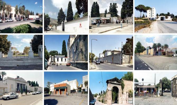 Collage dei cimiteri cittadini
