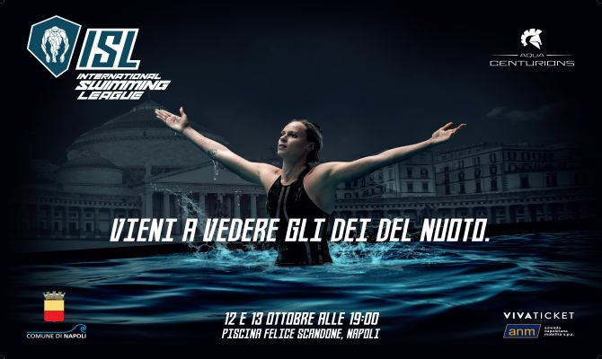 L'International Swimming League arriva a Napoli per la tappa italiana sabato 12 e domenica 13 ottobre 2019