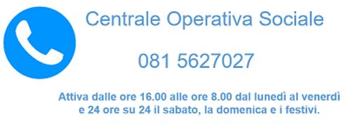 Numero telefonico Centrale Operativa Sociale