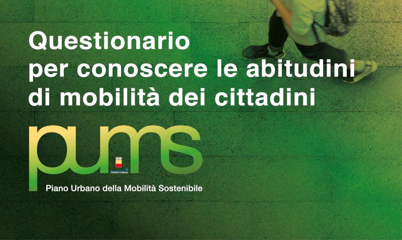Piano Urbano della Mobilità Sostenibile (P.U.M.S.) - Questionario finalizzato a conoscere le abitudini di mobilità dei cittadini