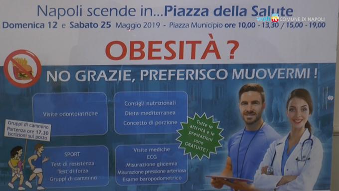 Obesità, sport e visite gratuite in piazza Municipio