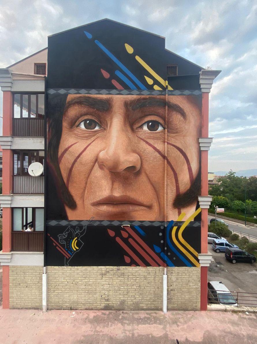 Un murale e una targa celebrativa per Simón Bolívar in occasione del Bicentenario della Rivoluzione Bolivariana