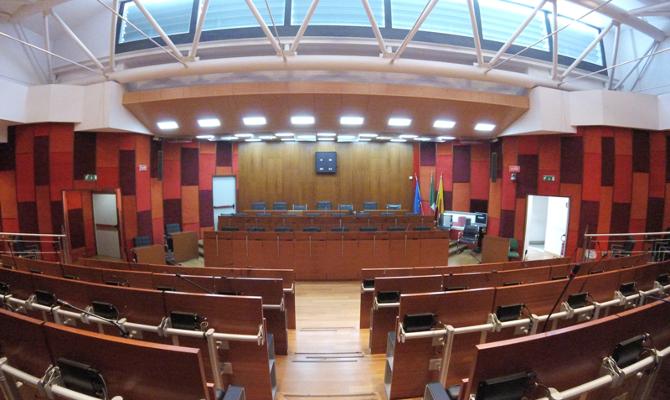 L'aula del Consiglio comunale di via Verdi