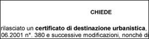 parte modello richiesta certificati