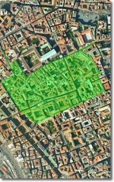 planimetria aerea dell'area interessata