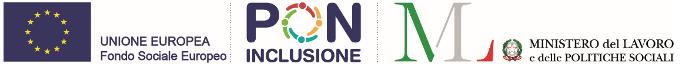 Loghi UE, PON Inclusione e Ministero del Lavoro