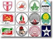 Simboli di alcuni partiti.