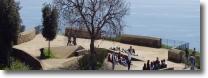 Vista del mare dal parco del Virgiliano