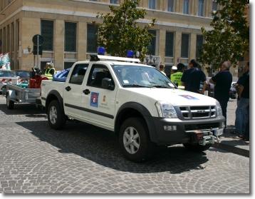 una vettura della Protezione Civile comunale