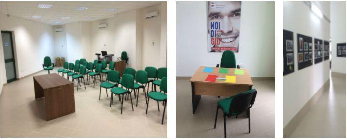 Foto degli interni del Centro Giovanile