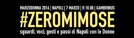 #Zeromimose: voci, occhi, gesti e passi di Napoli con le donne