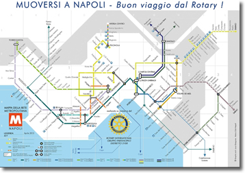 Naples underground Map Moving around Napoles Rotary wishes you a