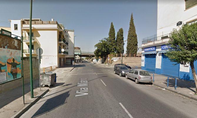 Un'immagine di via Miano da Google Maps