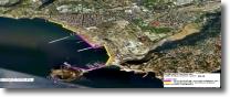 mappa satellitare dell'area napoletana