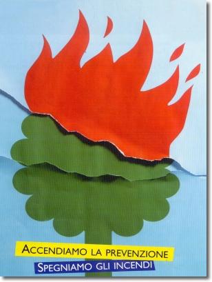 """logo dell'iniziativa """"accendiamo la prevenzione, spegniamo gli incendi"""""""