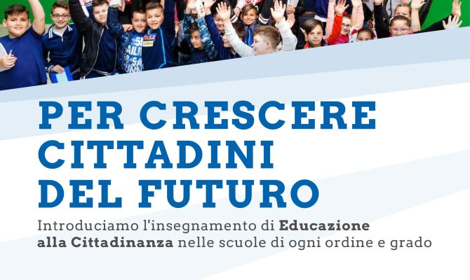 Raccolta firme per l'introduzione di educazione alla cittadinanza come materia scolastica