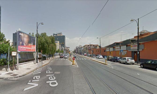 Un'immagine di via Nuova Poggioreale da Google Maps