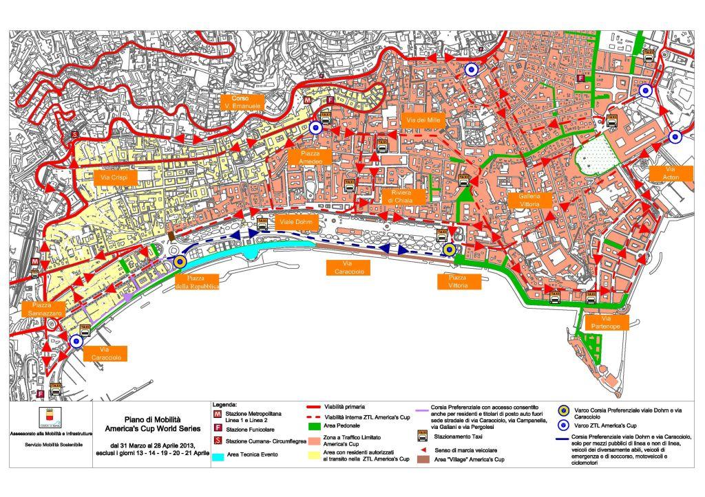 Cartina Ztl Napoli.Comune Di Napoli Ztl Straordinaria America S Cup