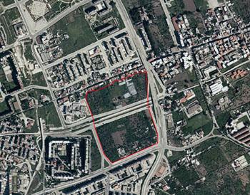 ortofoto con perimetro dell'area