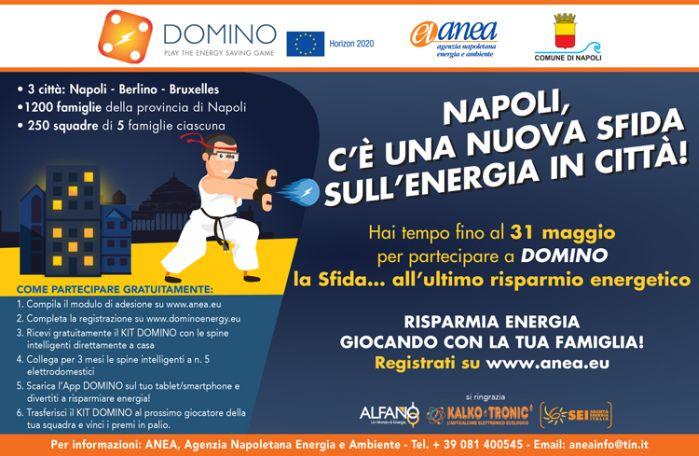 """Fino al 31 maggio 2017 sono aperte le registrazioni per """"Domino"""": la più grande sfida europea sul risparmio energetico"""