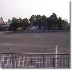 Veduta del campo di calcio