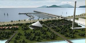 prospettiva del progetto del porto
