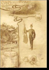 antica cartolina raffigurante le guardie municipali di Napoli