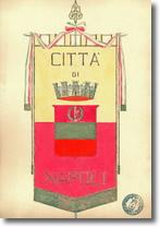 disegno del gonfalone della Città di Napoli, anno 1933