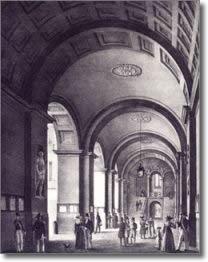 antica stampa raffigurante il vestibolo di palazzo San Giacomo