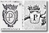 particolari di antichi documenti con stemmi