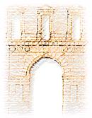 particolare della facciata e portone di palazzo san giacomo