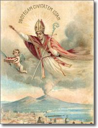 immagine devozionale di San Gennaro patrono di Napoli