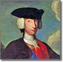 particolare di dipinto raffigurante Carlo di Borbone