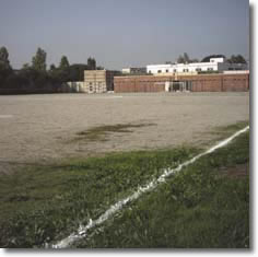 panoramica del campo di calcio