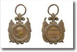 medaglia raffigurante re Ferdinando II di Borbone-Due Sicilie e iscrizione riferita a campagna militare.