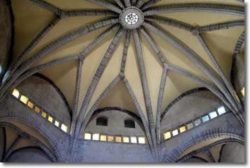 Particolare della volta della Sala dei Baroni, opera di Guglielmo Sagrera