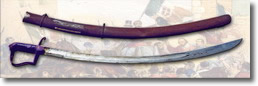 sciabola ottocentesca con fodero in metallo