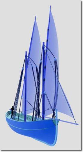 disegno di una grande barca a vela